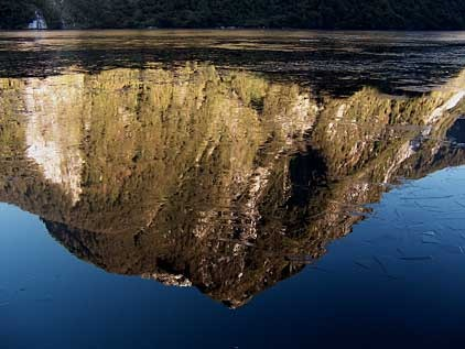 Reflection with ice, Doubtful Sound