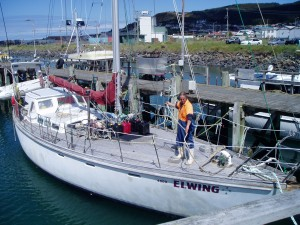 Arthur, The Skipper Gets the Foredeck Ready for the Next Trip