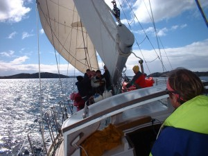 Sailing in Paterson Inlet